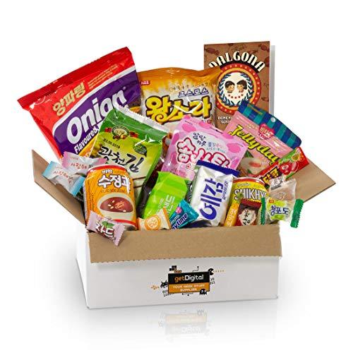 Dalgona-Box mit 20 koreanischen Süßigkeiten - Ausgewählter Mix aus vielseitigen Snacks & Spezialitäten
