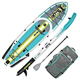 BOTE Rackham Aero Inflatable Stand Up Paddle Board for Fishing, SUP with Accessories | Pump, Paddle, Fin, Travel Bag (Rackham Aero, Full Trax Citron)