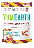 YumEarth Organic Gluten Free Sour Twists Snack Packs, Watermelon Lemonade, 12 Count