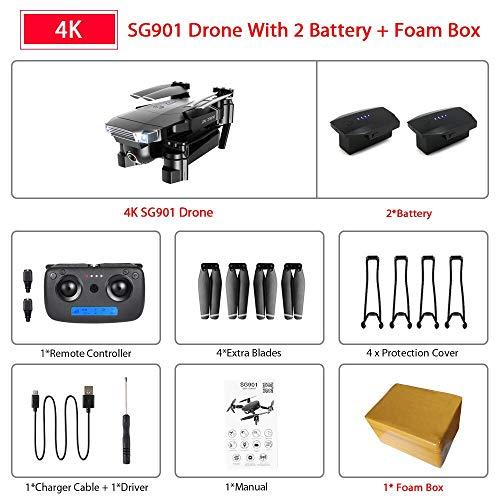 ZQALOVE Flusso Ottico Doppia Fotocamera SG907 SG901 GPS Drone con WiFi FPV 1080P 4K HD RC Quadcopter...
