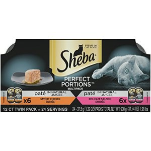 DISCONTINUED BY MANUFACTURER:SHEBA PERFECT PORTIONS Soft Wet Cat Food Paté in Natural Juices Savory Chicken Entrée…
