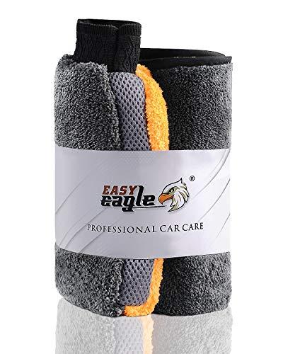 EASY EAGLE Guanto e Panno in Microfibra per Auto, 1200GSM Panno Asciugatura e Wash Mitt per la Cura...