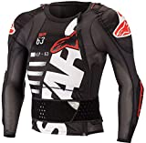 Alpinestars Men's Sequence Protection Motorcycle Jacket Long Sleeve, Black/White/Red, L
