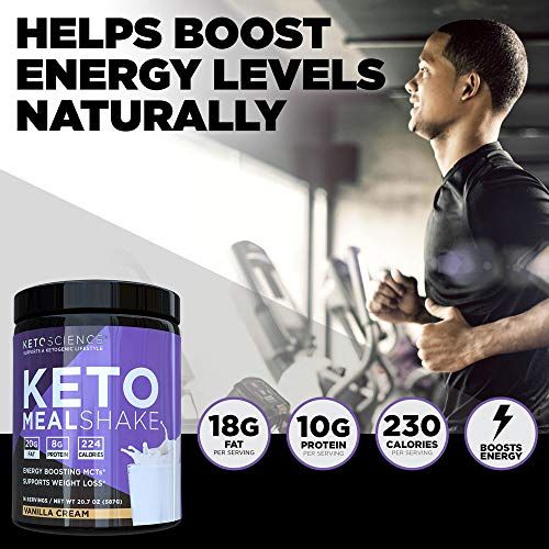 Keto Science Ketogenic Meal Shake Vanilla Dietary Supplement, Rich in MCTs and Protein, Paleo Friendly, Weight Loss, 14 servings, 20.7 oz Packaging May Vary 2