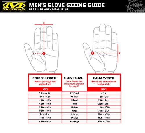 Mechanix Wear – Original Wolf Grey Tactical Gloves (X-Large, Grey)