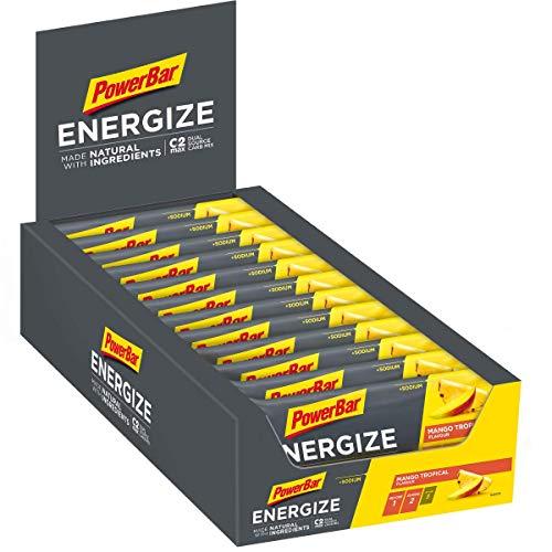 PowerBar Energieriegel Energize mit Magnesium und Natrium - Fitness-Riegel, Kohlenhydrate Riegel mit Hafer, Früchten und Maltodextrin, 25 x 55 g Mango Tropical