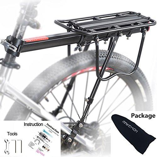 MAIKEHIGH Universale Regolabile Porta Posteriore per Bicicletta Portapacchi Bicicletta Accessori...