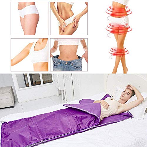 Heat Sauna Slimming Blanket, Digital Far-Infrared (FIR) Oxford Sauna Blanket Safety Switch Hands Free Design for Weight Loss Body Shape Slimming Fitness 4