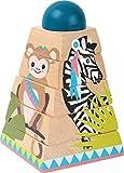 small foot 11090 Pyramide à empiler 'Jungle' en bois, avec 4 motifs animaux et...