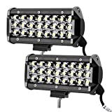 LE Lighting EVER Projecteur Phare LED Feu Travail 72W, 144W au total 6000K...