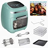 GoWISE USA GW77723 11.6-Quart Air Fryer Toaster Oven with Rotisserie &...