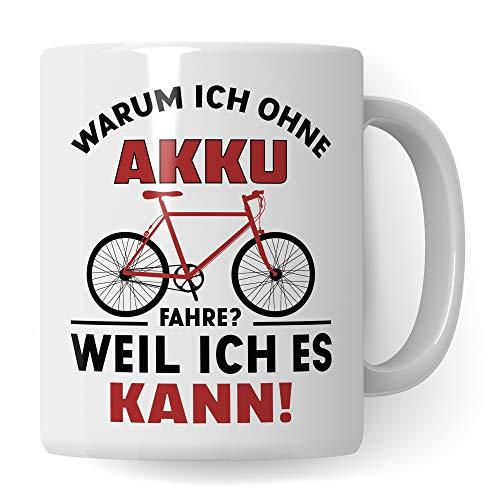 Pagma Druck Fahrrad Tasse lustig, Geschenk Fahrradfahrer Männer, Becher Fahrradmotiv Fahrräder,...