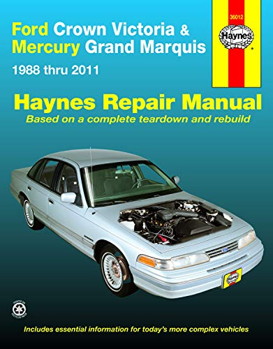 Ford Crown Victoria & Mercury Grand Marquis (88-11) (all fuel-injected models) Haynes Repair Manual (Does not include Mercury Marauder, 5.8L V8 engine or natural gas-fueled.)