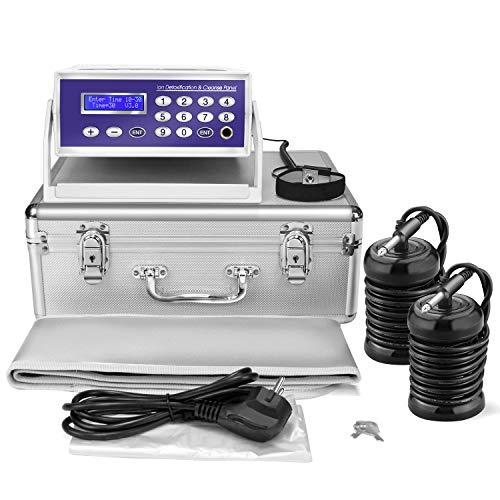 Lecaung Ionic Foot Bath Detox Machine, Professional Ion Cleanse Ionic Detox Foot Bath Spa Machine with LED Display, Far Infrared Belt