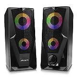 ARCHEER Enceinte PC, Double Haut-parleurs PC Multimédia 2.0 Système de...