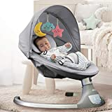 Nova Baby Swing for Infants - Motorized Portable Swing, Bluetooth Music Speaker with 10 Preset Lullabies, Remote Control, Gray - Jool Baby