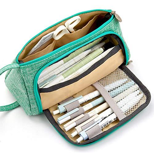 astuccio scuola media Ampia Capacit portapenne da scrivania superiore zaino pochette donna trucchi...