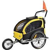 TIGGO World Convertible Jogger Remorque à Vélo 2 en 1, pour...