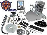 66/80cc Mega Motors Silver Bicycle Engine Kit- 2 Stroke