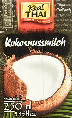 Real Thai Kokonusssmilch Tetra Pak, 4er Pack (4 x 250 ml)