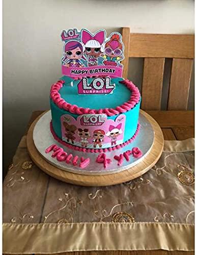 Image 4 - LOL joyeux anniversaire Cake Topper Cupcake Picks Cartoon Gâteau Décoration Enfants Filles Fête D'anniversaire Fournitures 5 pcs