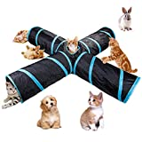 Beststar #81266 Tunnel pour chat 4voies, grand tunnel pliable...