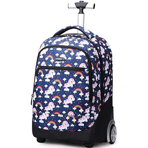 Zaino Trolley Sacchetto Della Scuola Per i Bambini Sacchetto Di Scuola Di Rotolamento Per Ragazzi e Ragazze Borsa Portatile Viaggio Business Bagagli,A