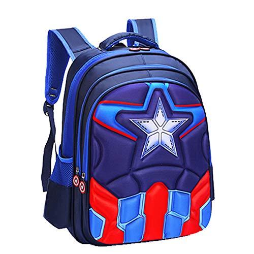 unbrand Niños Mochila Niña Niños Bolsa de Viaje Mochila Impermeable Capitán América Spiderman Impreso Mochila Escolar Mochila Escolar Camping Senderismo