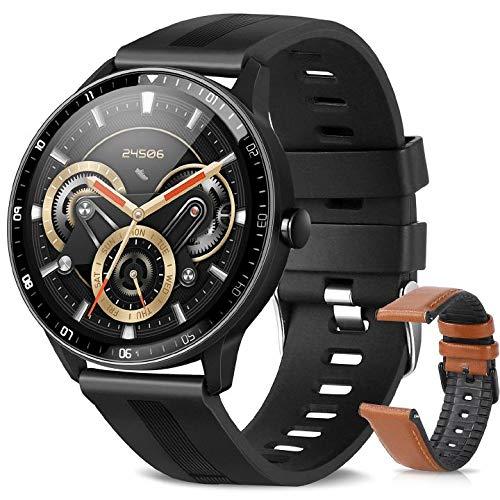 Smartwatch, Reloj Inteligente A Prueba de Agua IP67 para Hombres, Smart Watch 1.3 Pulgadas con 24 Deportes, Ritmo Cardíaco, Caloría, Sueño, GPS, Pulsera de Actividad Inteligente...