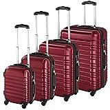 TecTake Set de 4 valises de Voyage de ABS avec Serrure à Combinaison...