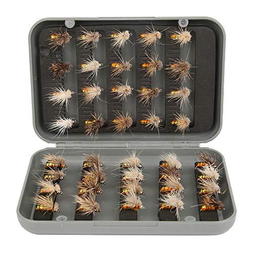 Taidda   2021  16,5 x 8 mm  Esca per mosche con gancio, esche per insetti legate a mano in acciaio al carbonio, ABS River Stream per Lake Pool
