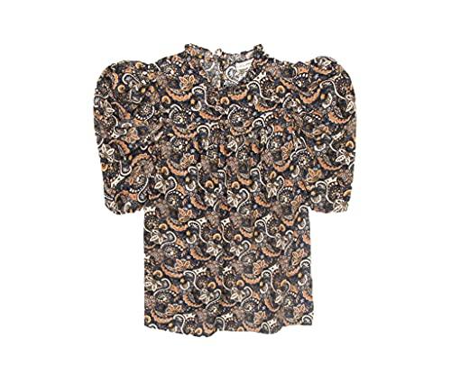 51lMhTB0HuL. SL500 100% Silk Short Sleeves Pleat Front