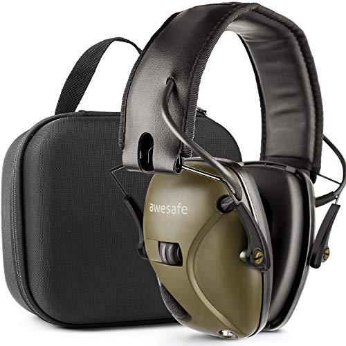 awesafe GF01L Protection auditive électronique pour les sports d'impact [Livré avec sac de transport rigide], Protège-oreilles de sécurité,...