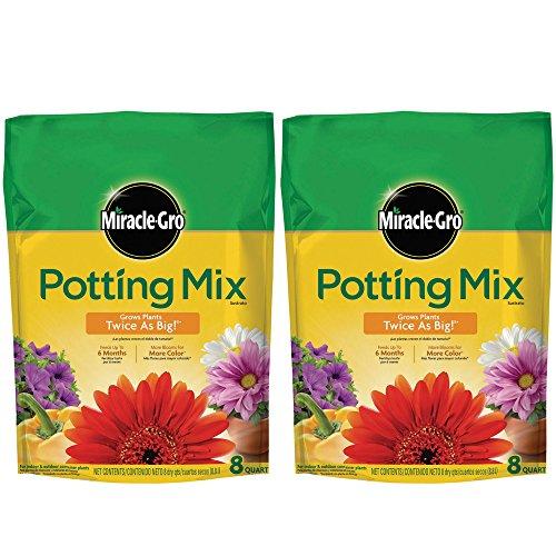 Miracle-Gro Potting Mix 8 QT MGRO POTTING MIX, 2-Pack