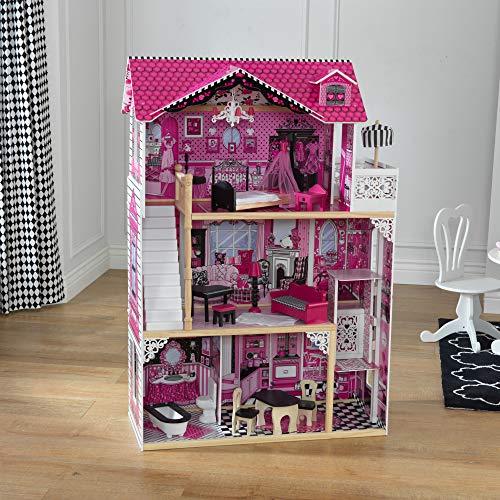 Image 2 - Kidkraft - 65093 - Maison de Poupées en Bois Amelia Incluant Accessoires et Mobilier, 3 Étages de Jeu pour Poupées 30 cm