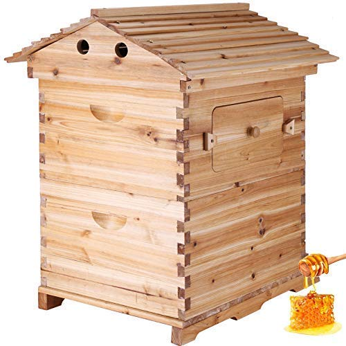 Happybuy Bee Hive Frames Wooden House Automatic Honey Bee