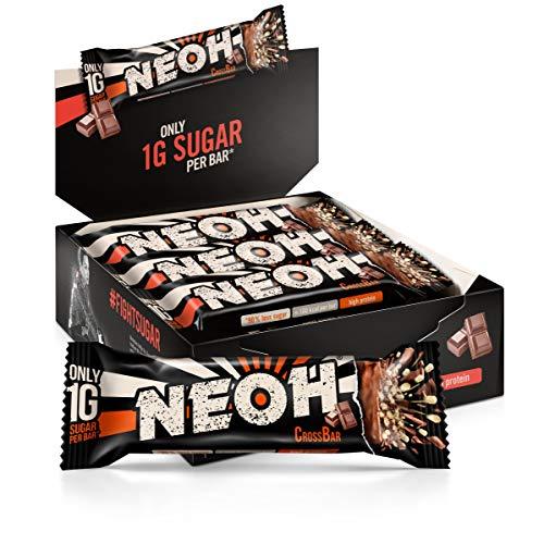 NEOH Lowcarb Protein Riegel Schokolade   1g Zucker / 94 kcal / 32% Protein pro Riegel   Ohne Zuckerzusatz   Vorteilsbox 12x30g   Chocolate
