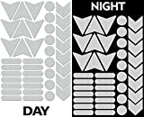 40pcs High Visibility Warning Reflective Stickers Kit Decals White Reflector Highly Night Safety Sign Visibility Universal Self - Adhesive D 48