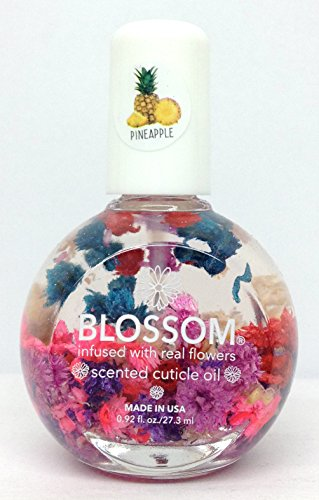 Blue Cross - Blossom - Cuticle Oil with Real Flowers 1fl.oz -Pick Your own Scent (Pineapple 1 fl.oz)