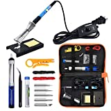 Anbes Soldering Iron Kit Electronics, 60W Adjustable Temperature...
