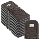 Naturally Natures Cloth Diaper Inserts 5 Layer - Insert - Charcoal Bamboo Reusable Diaper Liners with Gussets (Pack of 12)