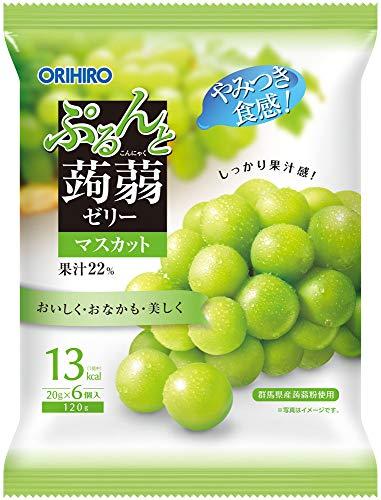 オリヒロ ぷるんと蒟蒻ゼリー マスカット (20g×6個)×6袋