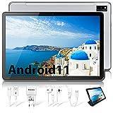 Blackview Tab10 Tablet 10.1 Pollici FHD LTE + WIFI, Android 11 4GB RAM + 64GB ROM/128GB, Octa Core Tablet Batteria 7480mah, Fotocamera 13MP+8MP, 1920*1200, Dual SIM/Face ID/GPS/Bluetooth/OTG (argento)
