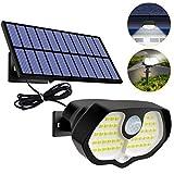 btfarm Lampe Solaire Exterieur, Séparable Panneau Solaire Projecteur 60LED...