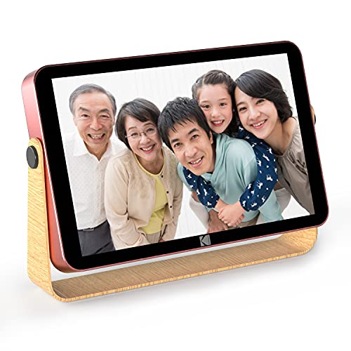 KODAK WiFiデジタルフォトフレーム10.1インチ IPSタッチスクリーン高解像度、内蔵リチウム電池、Appを通じていつでもどこでも写真やビデオを共有する。日本語説明書 (ローズゴールド)