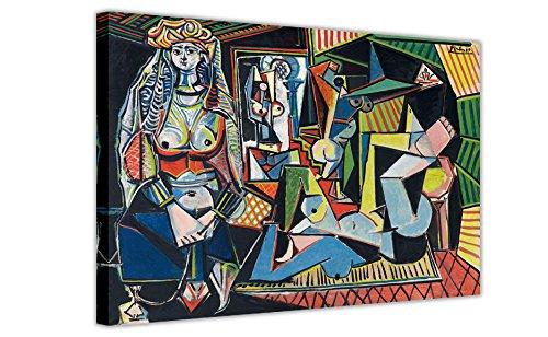 Les Femmes D 'Alger (Versione o) Pablo Picasso Reprinted on incorniciata Stampa su Tela, Stampe casa...