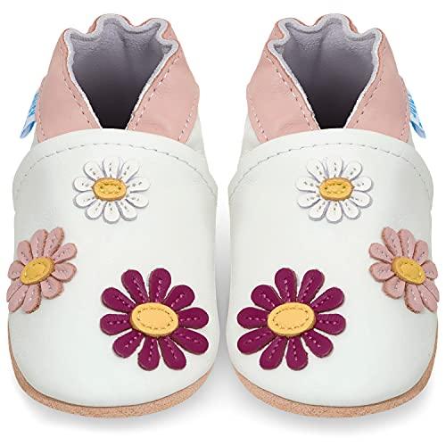 Scarpe Neonata Scarpe Bambina Primi Passi in Morbida Pelle - Margherita 6-12 Mesi