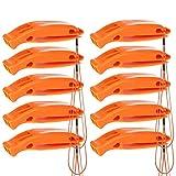 Bramble - 10 Stück Signalpfeife für Notfalle, Sport, Hundetraining