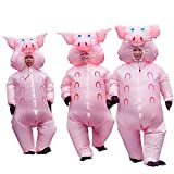 Inflatable Pig Costume Christmas Costumes Fancy Dress Masquerade Funny Cosplay Party Clothes for Adult (1pcs)