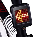 CHFUN USB Rechargeable Bike Tail Light,80 Lumens 64 LED Light Beads Bicycle Turn Signal Lights with Intelligent Sensor Brake Turn Signals Blinker for MTB Road Bicycle (Sports)